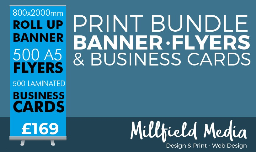 Printing Offer - Pop Up banner, Flyers and Business Cards